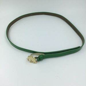 Banana Republic medium green elephant buckle belt.